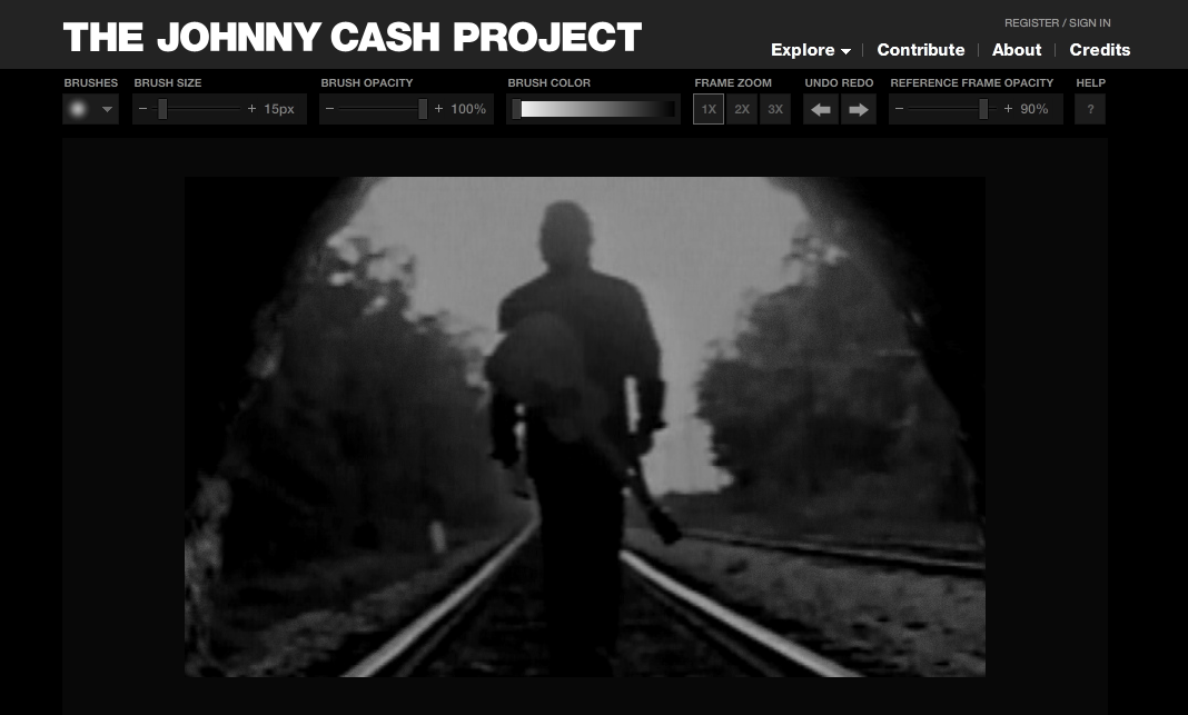 johnny cash project A crowdsourced music video, the johnny cash project pays tribute to the iconic man in black please take one minute to fill out our mit docubase user survey x.